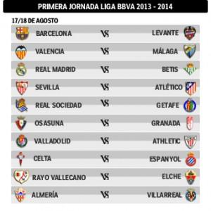 Primera jornada Liga BBVA