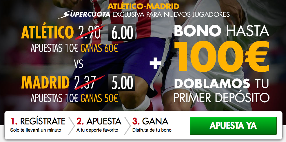 Supercuota derby madrileño