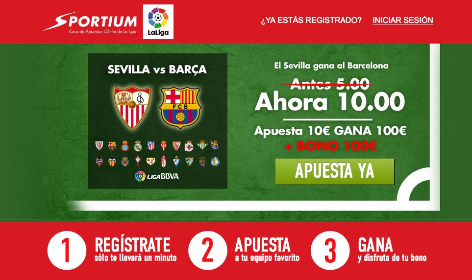 Sevilla a 10 en Sportium